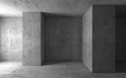 Fondo arquitectónico abstracto, sitio vacío 3d ilustración del vector