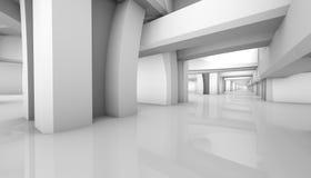 Fondo arquitectónico blanco representación paramétrica 3d stock de ilustración
