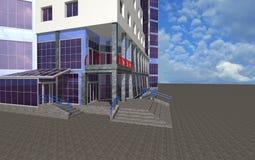 Fondo arquitectónico con la parte de edificio Imágenes de archivo libres de regalías