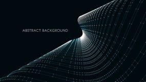 fondo arquitectónico 3d ejemplo abstracto del vector diseño futurista abstracto 3D para la presentación del negocio Foto de archivo