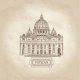Fondo arquitectónico texturizado papel viejo del Vaticano San Pedro libre illustration