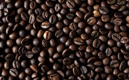 Fondo arrostito dei chicchi di caffè del caffè espresso Fotografia Stock Libera da Diritti