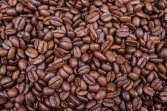 Fondo arrostito dell'aroma dei chicchi di caffè di Brown fotografie stock libere da diritti