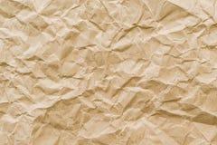 Fondo arrugado de la textura del papel marrón Imagen de archivo libre de regalías