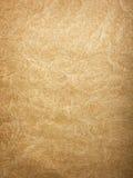 Fondo arrugado del papel de Brown Foto de archivo