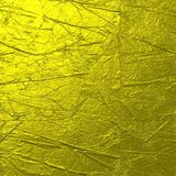 Fondo arrugado oro duro de la textura Imagen de archivo libre de regalías