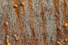 Fondo arrugginito astratto del metallo Fotografie Stock Libere da Diritti