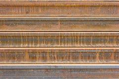 Fondo arrugginito della ferrovia del metallo Fotografia Stock Libera da Diritti