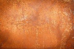Fondo arrugginito di struttura del metallo per progettazione Fotografie Stock Libere da Diritti
