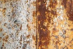 Fondo arrugginito di struttura della superficie di metallo Fotografie Stock Libere da Diritti
