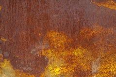 Fondo arrugginito di struttura della superficie di metallo Immagini Stock