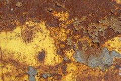 Fondo arrugginito di struttura della superficie di metallo Fotografia Stock