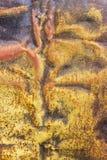 Fondo arrugginito ed ossidato del metallo textur arrugginito variopinto del ferro fotografia stock libera da diritti