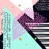 Fondo artístico abstracto del vector Cartel abstracto moderno y elegante del diseño Foto de archivo