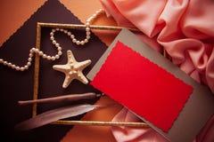 Fondo artístico con el spcace vacío de la copia, paleta anaranjada Fotos de archivo