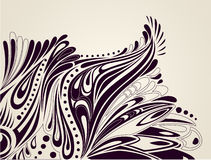 Fondo artístico con los elementos curvados florales Foto de archivo libre de regalías