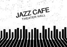 Fondo artístico de la noche del jazz Cartel para el festival de jazz Fotografía de archivo libre de regalías