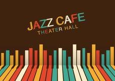Fondo artístico de la noche del jazz en color Cartel para el festival de jazz Foto de archivo libre de regalías