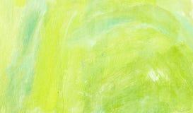 Fondo artístico de la primavera con las marcas de cepillo Foto de archivo libre de regalías