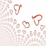 Fondo artístico de las tarjetas del día de San Valentín Fotos de archivo libres de regalías