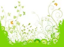 Fondo artístico floral del vector stock de ilustración