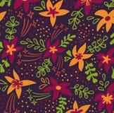 Fondo artístico universal creativo del estampado de flores Texturas exhaustas de la mano con las flores coloridas Diseño gráfico  libre illustration