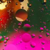 Fondo artificial colorido con las burbujas Imagen de archivo