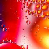 Fondo artificial colorido con las burbujas Imagen de archivo libre de regalías
