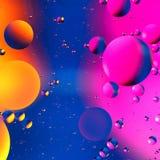 Fondo artificial colorido con las burbujas Imagenes de archivo