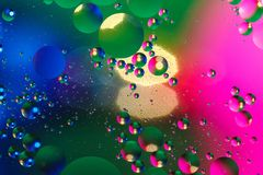 Fondo artificial colorido con las burbujas Imágenes de archivo libres de regalías
