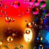 Fondo artificial colorido con las burbujas Fotografía de archivo