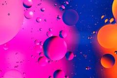 Fondo artificial colorido con las burbujas Fotos de archivo