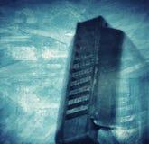 Fondo artistico dell'armonica dei blu immagini stock libere da diritti