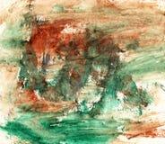Fondo artistico verde e marrone Immagini Stock Libere da Diritti
