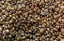 Fondo asado de los granos de café Fotografía de archivo