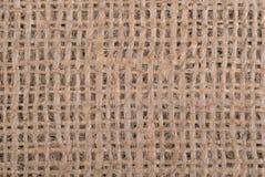 Fondo ascendente cercano de la arpillera Fotografía de archivo