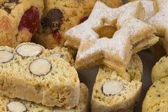 Fondo asciutto casalingo dei biscotti Fotografia Stock