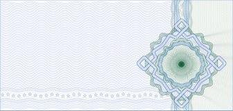 Fondo asegurado del guilloquis para el certificado Imagen de archivo