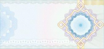 Fondo asegurado del guilloquis para el vale stock de ilustración