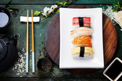 Fondo asiático de la comida Foto de archivo