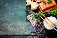 Fondo asiático de la comida Imagenes de archivo