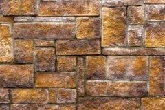 Fondo asimmetrico della decorazione del muro di mattoni immagine stock libera da diritti
