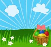 Fondo asoleado de Pascua stock de ilustración