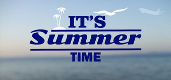 Fondo asoleado del verano Imagenes de archivo