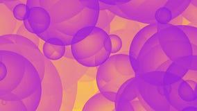 Fondo astratto animato del computer con i cerchi illustrazione di stock