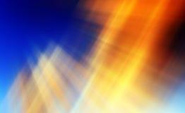 Fondo astratto in arancio, in blu e nel giallo Fotografia Stock Libera da Diritti