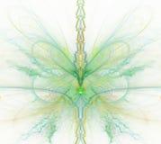 Fondo astratto bianco con l'arcobaleno - verde, turchese, yello illustrazione di stock