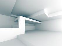 Fondo astratto bianco della costruzione di edifici Fotografia Stock