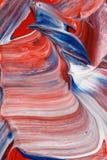 Fondo astratto bianco e blu di rosso, fotografia stock