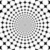 Fondo astratto in bianco e nero dello zoom di illusione ottica illustrazione di stock